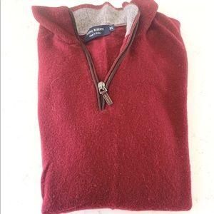 Quarter Zip Maroon Sweater